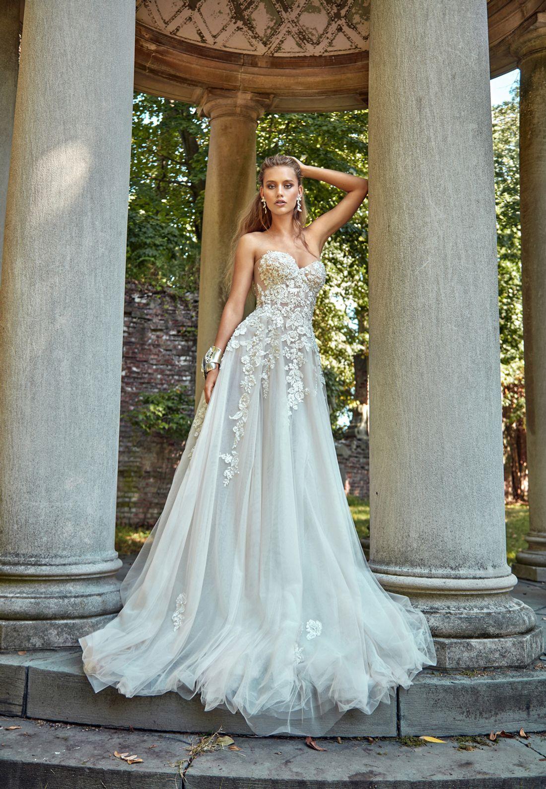 GaliaLahav -- Gia is a sheer strapless corset dress, with sheer ...