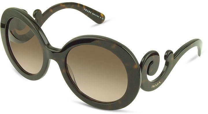 Prada Swirled Temple Large Frame Sunglasses - $315.00