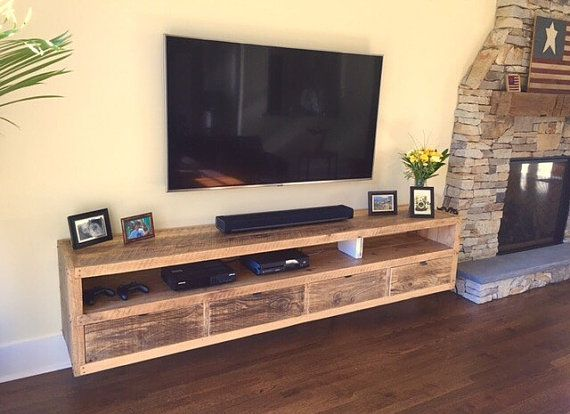 floating tv stand living room furniture floating notched leg media console tv stand home 24467