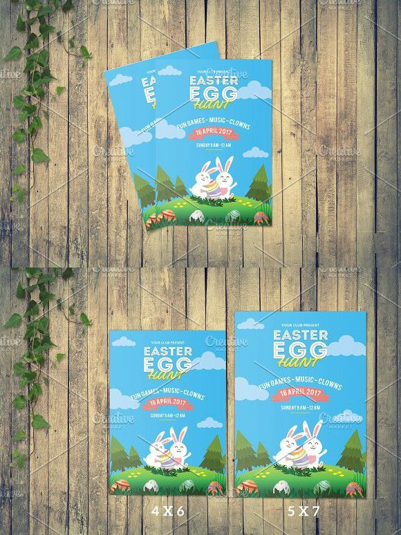 Easter Flyer Template -V517 Flyer template, Event flyers and Template