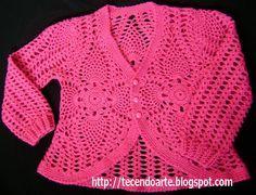 Tecendo Arte: Casaco Infantil em Crochê!!!