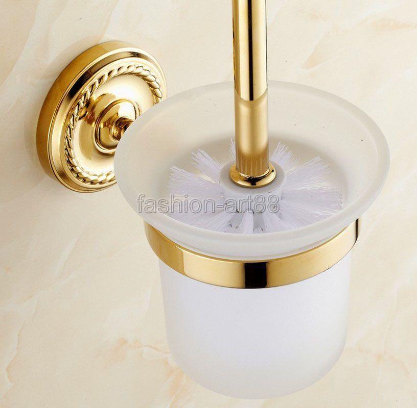 Br Gl Golden Toilet Brush Holder