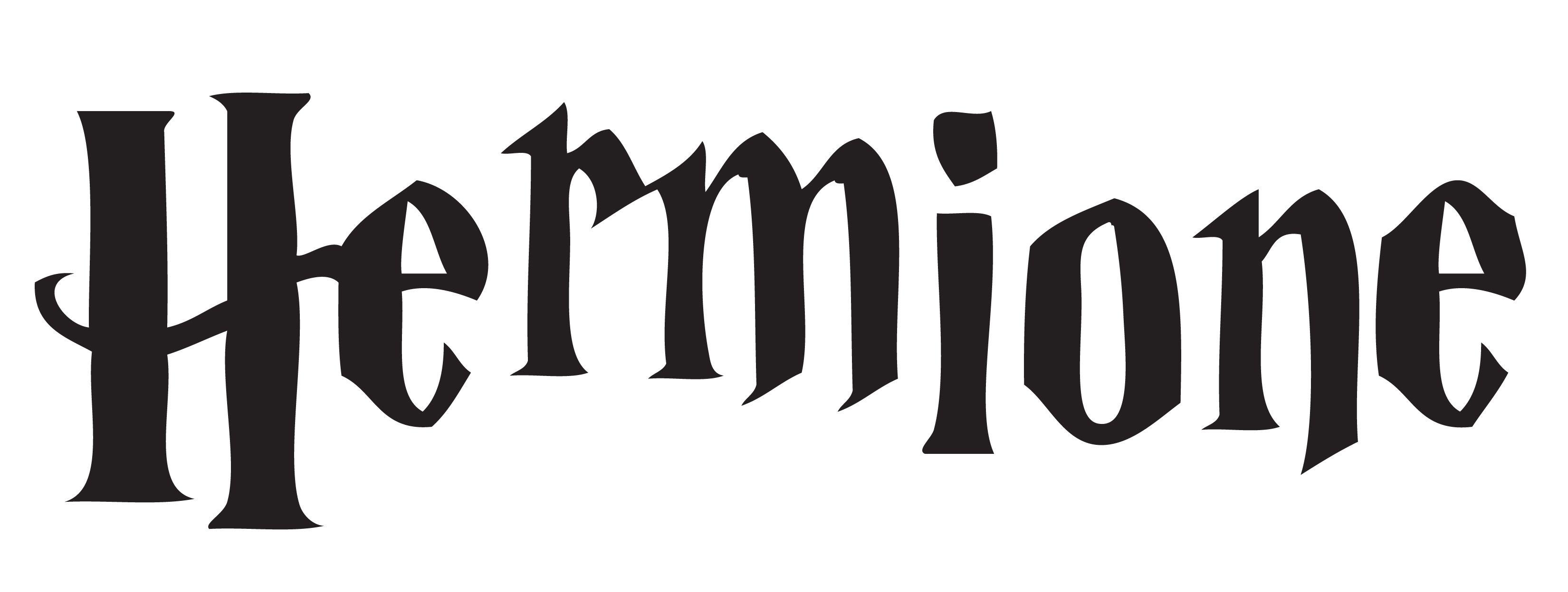 Hermione In Hp Font
