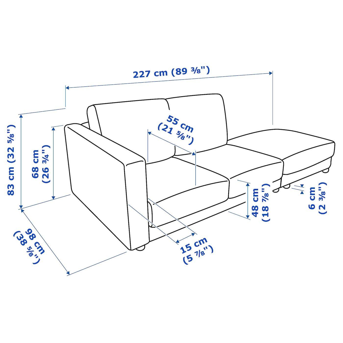 Ikea Vimle 3er Sofa Ohne Abschluss Tallmyra Beige In 2020 3er Sofa Sofa Kaltschaum