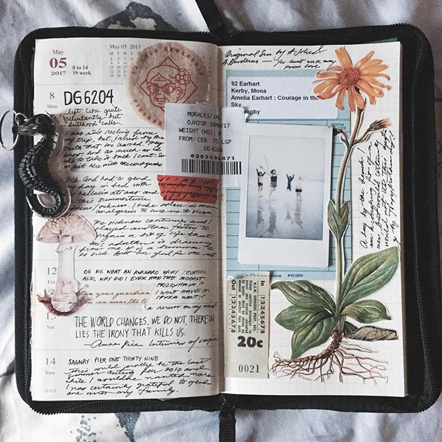 Art Journal Pages And Scrapbook Inspiration Ideas For Travel
