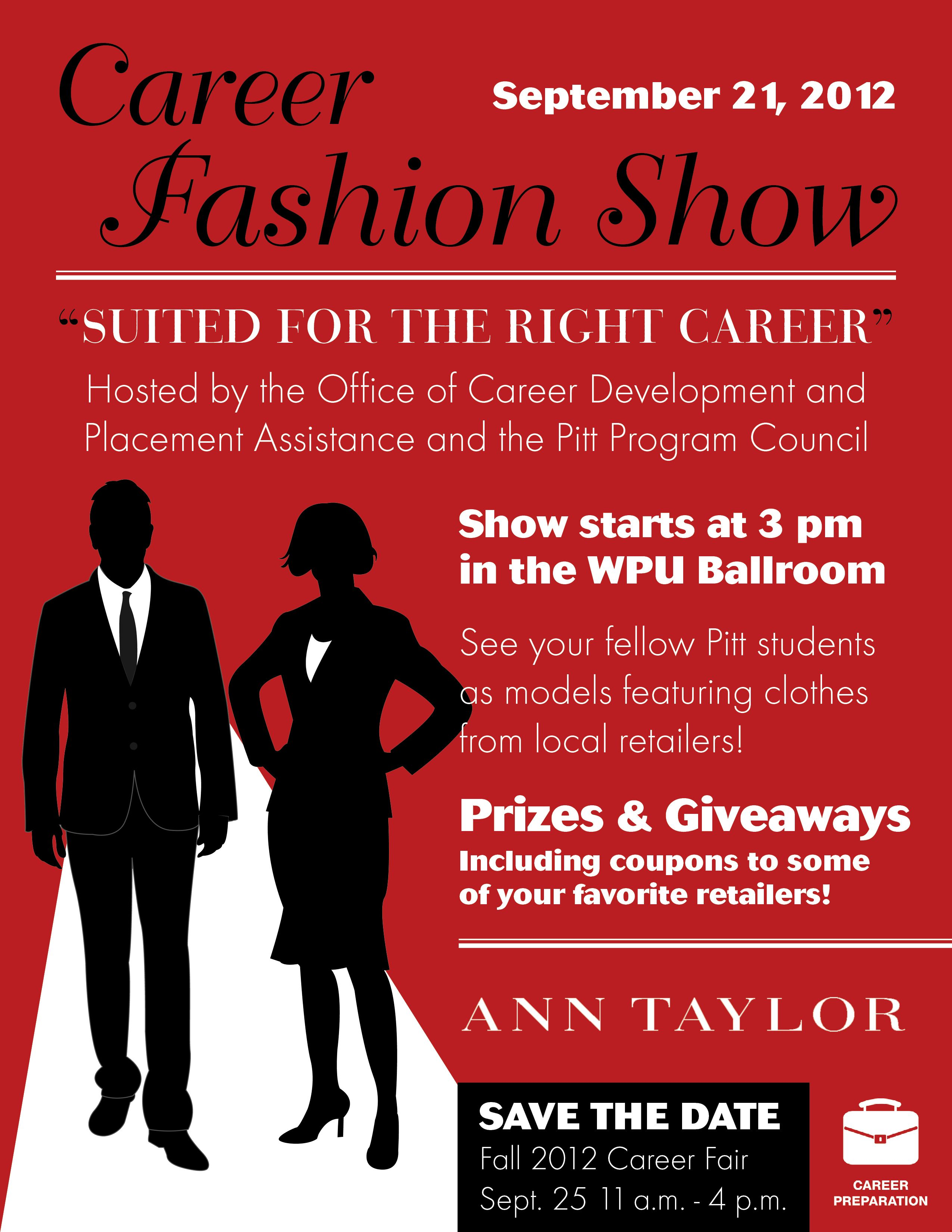Join Us For The First Annual Career Fashion Show And Watch Your