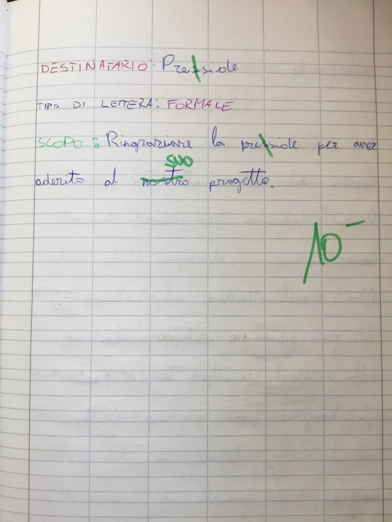 Quaderno Di Italiano Classe 3 La Lettera Con Immagini Lettera