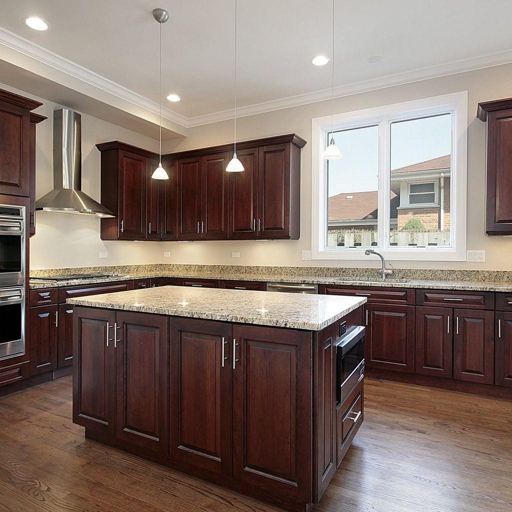 Kitchen Cabinets Laminate Flooring | Dark wood kitchen ...