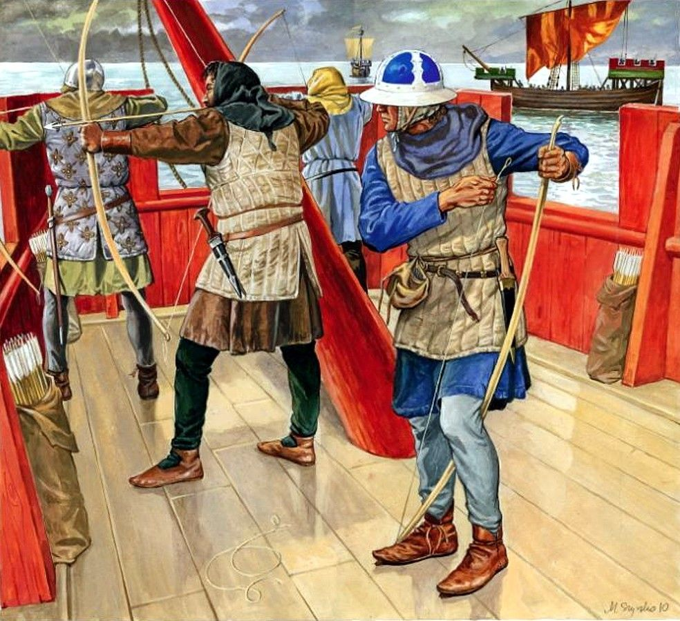Battle Of The Kettles: French Naval Archers, Battle Of Sluy, Hundred Years War