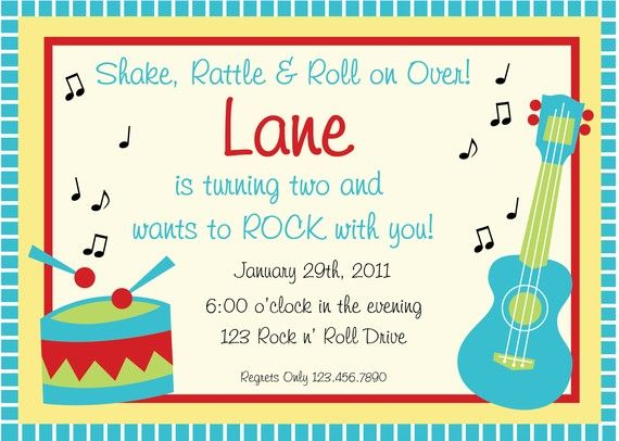 Music birthday party invitation kid bday party pinterest party music birthday party invitation thecheapjerseys