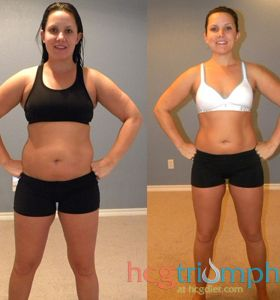 Hard work really pays off! Plus it's nice to have some extra help from HCG triumph and their awesome staff! Before and after weight loss shots are so inspiring.