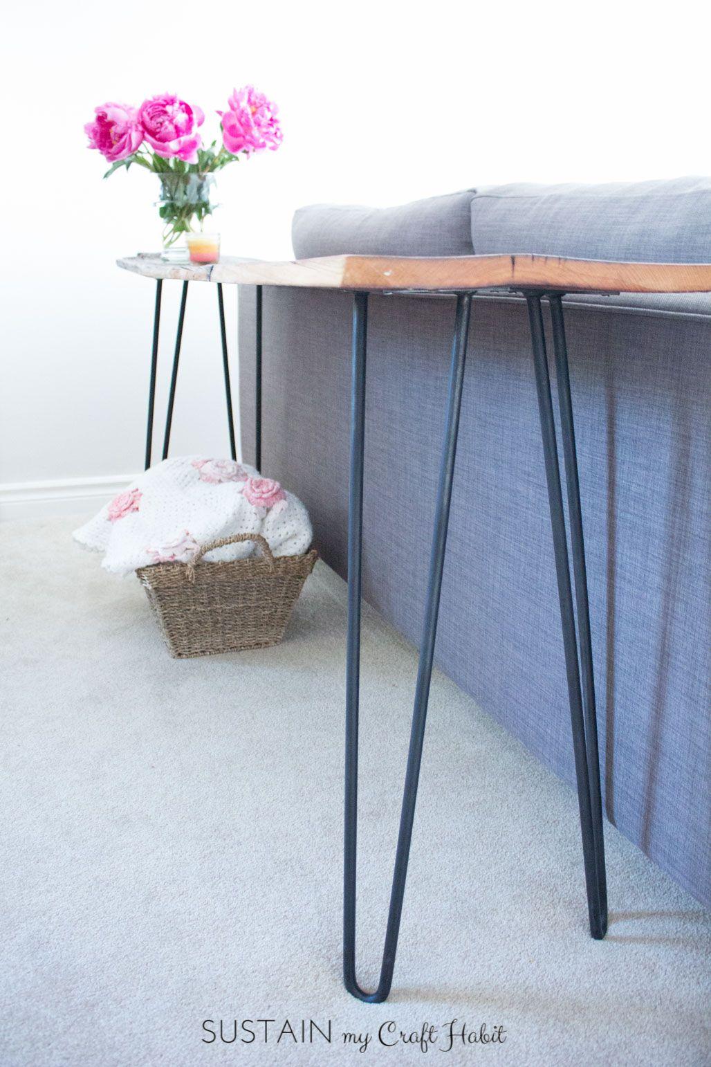 how to make a diy reclaimed barn wood hairpin leg console table rh pinterest com