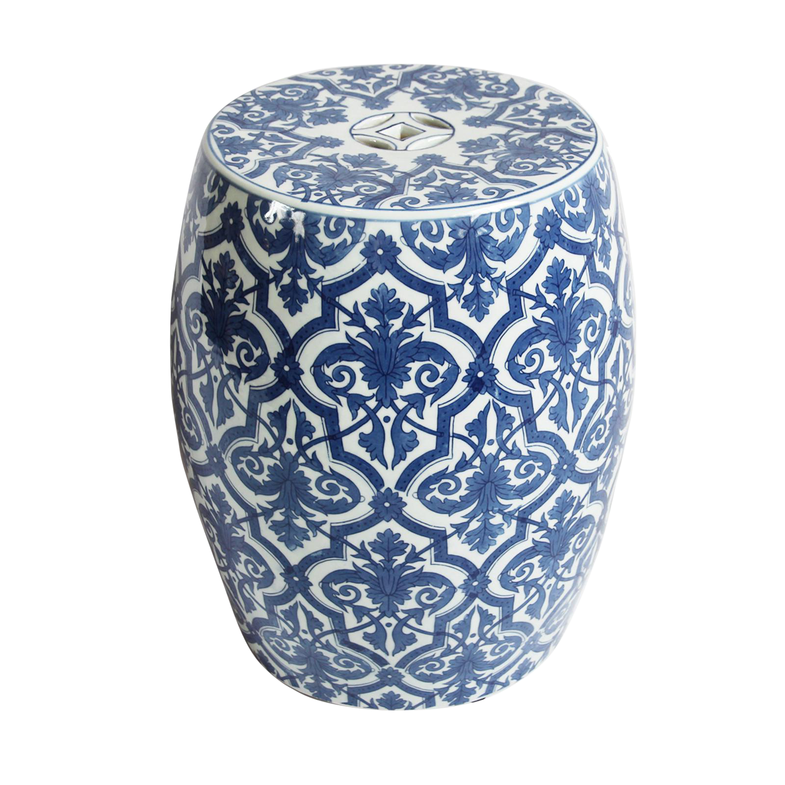 Blue White Ceramic Garden Stool Ceramic Garden Stools Garden Stool Blue Garden Stool