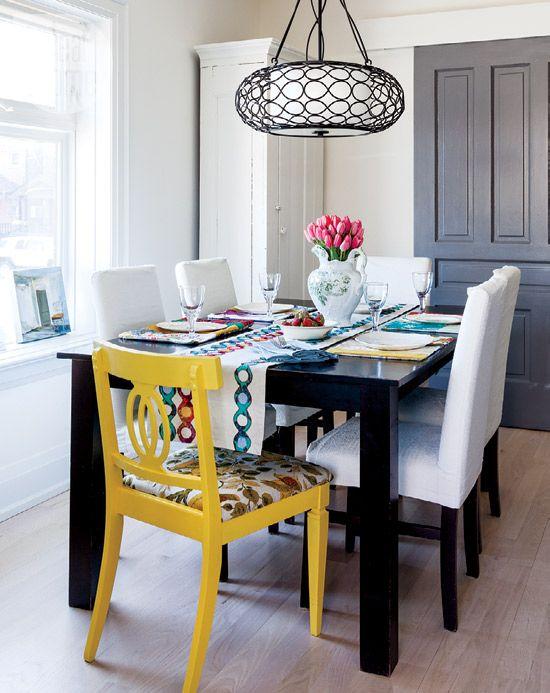 Interior Colourful Modern Victorian Dining Room Design