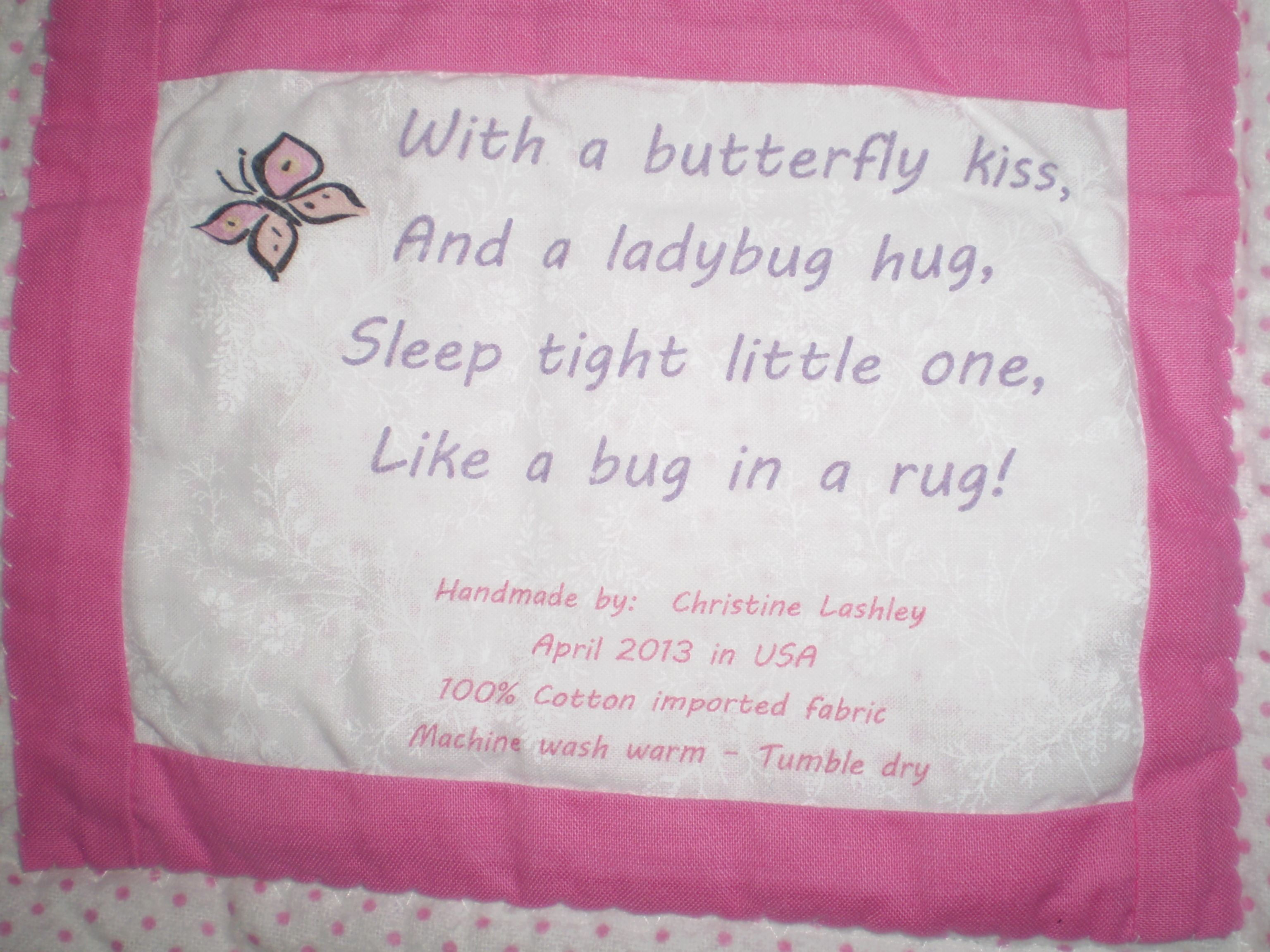 Find This Pin And More On Embroidery Discover And Share Baby Quilt Label