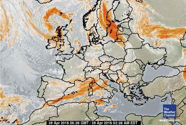 satellite weather map europe Europe Satellite Weather Map   Map, Europe weather, Weather map