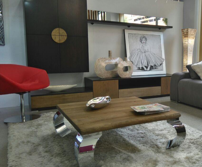 Mesa de centro patas de metal dise o contempor neo mesas for Mesas de centro de diseno