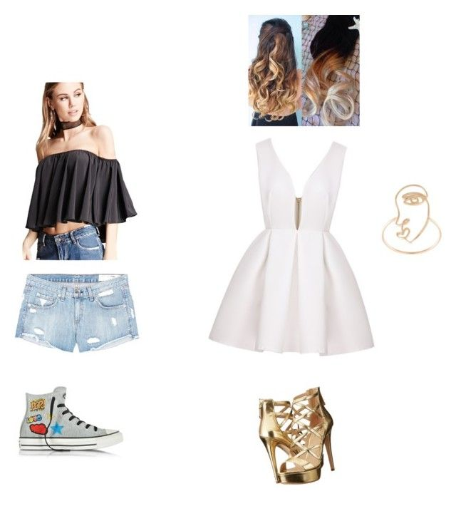 """""""Untitled #71"""" by ewalciar on Polyvore featuring Sarah & Sebastian, rag & bone/JEAN, Forever 21, GUESS and Converse"""