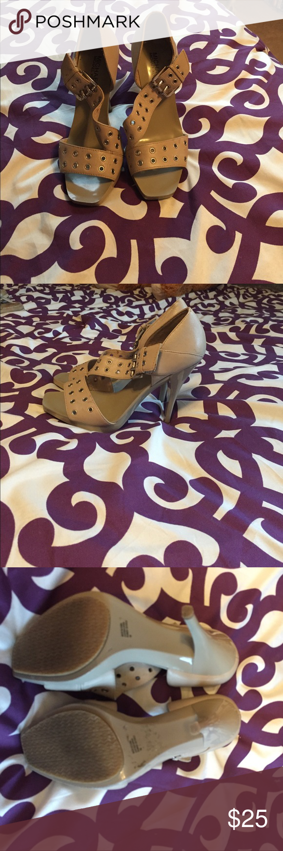 bb5e8fbeff Michael Kohl's tan heels Worn only once. Classy item with a little edge to  them
