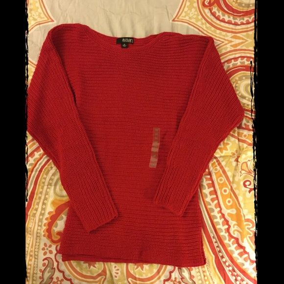 Red Sweater size PS Pretty red sweater. Size PS. Never worn. a.n.a ...