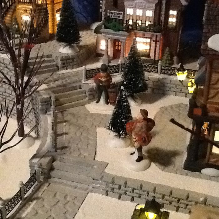 Christmas Village Platforms.Another Back View Christmas Display Platforms Christmas