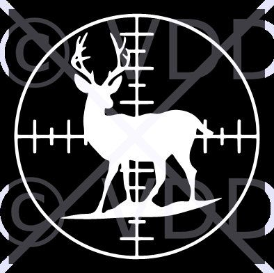 Items similar to vinyl car decal sticker deer hunting target in white size 6 x 6 vinyl car decal bumper sticker deer hunting target on etsy