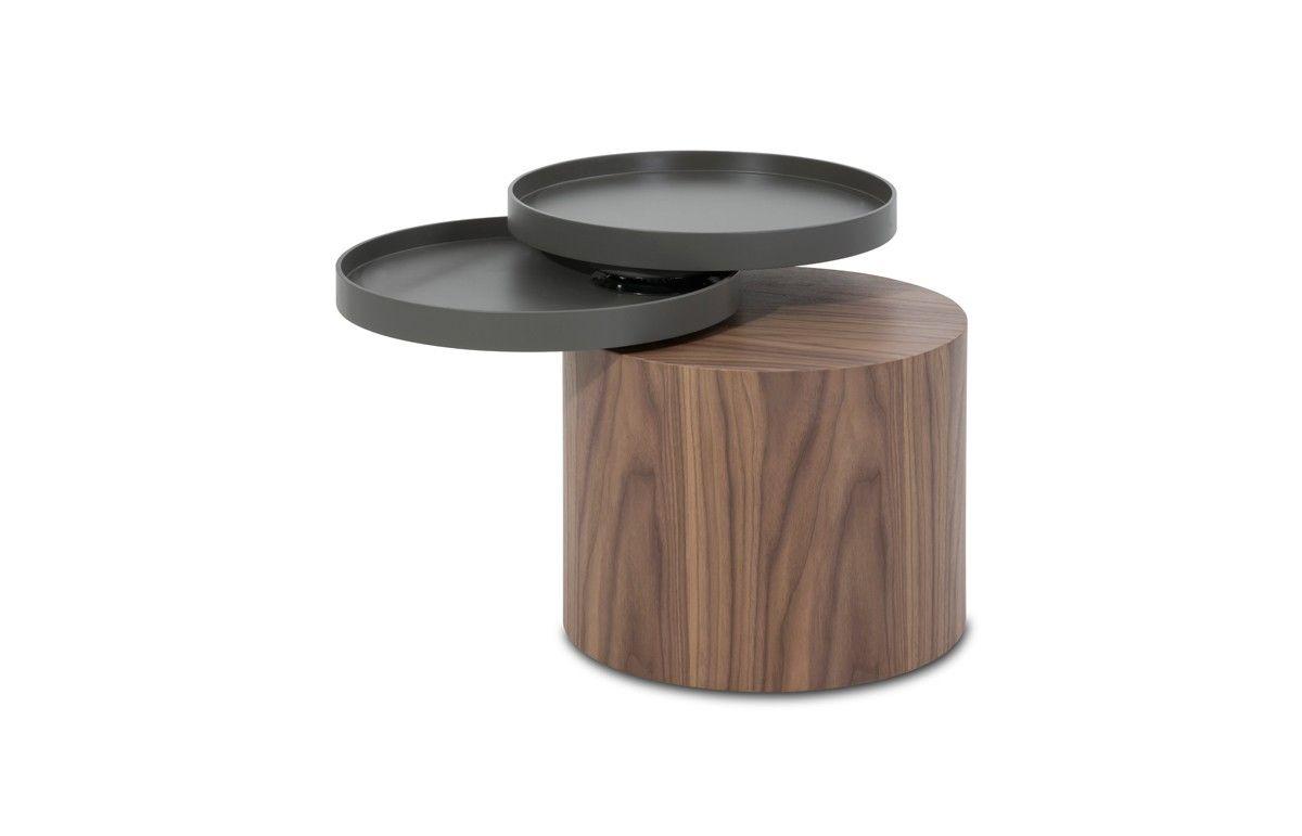 Modrest Bascom Modern Walnut End Table W Swivel Top 19 X 19 X 20 388 End Tables Modern End Tables Unique End Tables