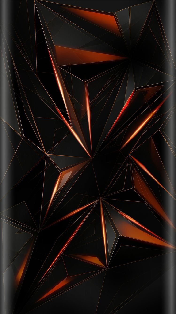 Black Geometric Abstract Wallpaper Geometric abstract