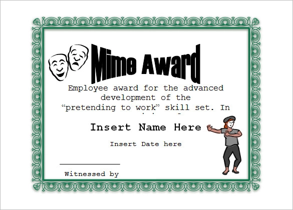 11+ Funny Certificate Templates Funny certificates