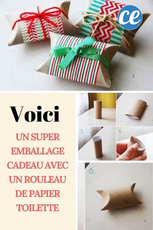 Faire un Super Emballage Cadeau avec un Rouleau de Papier Toilette