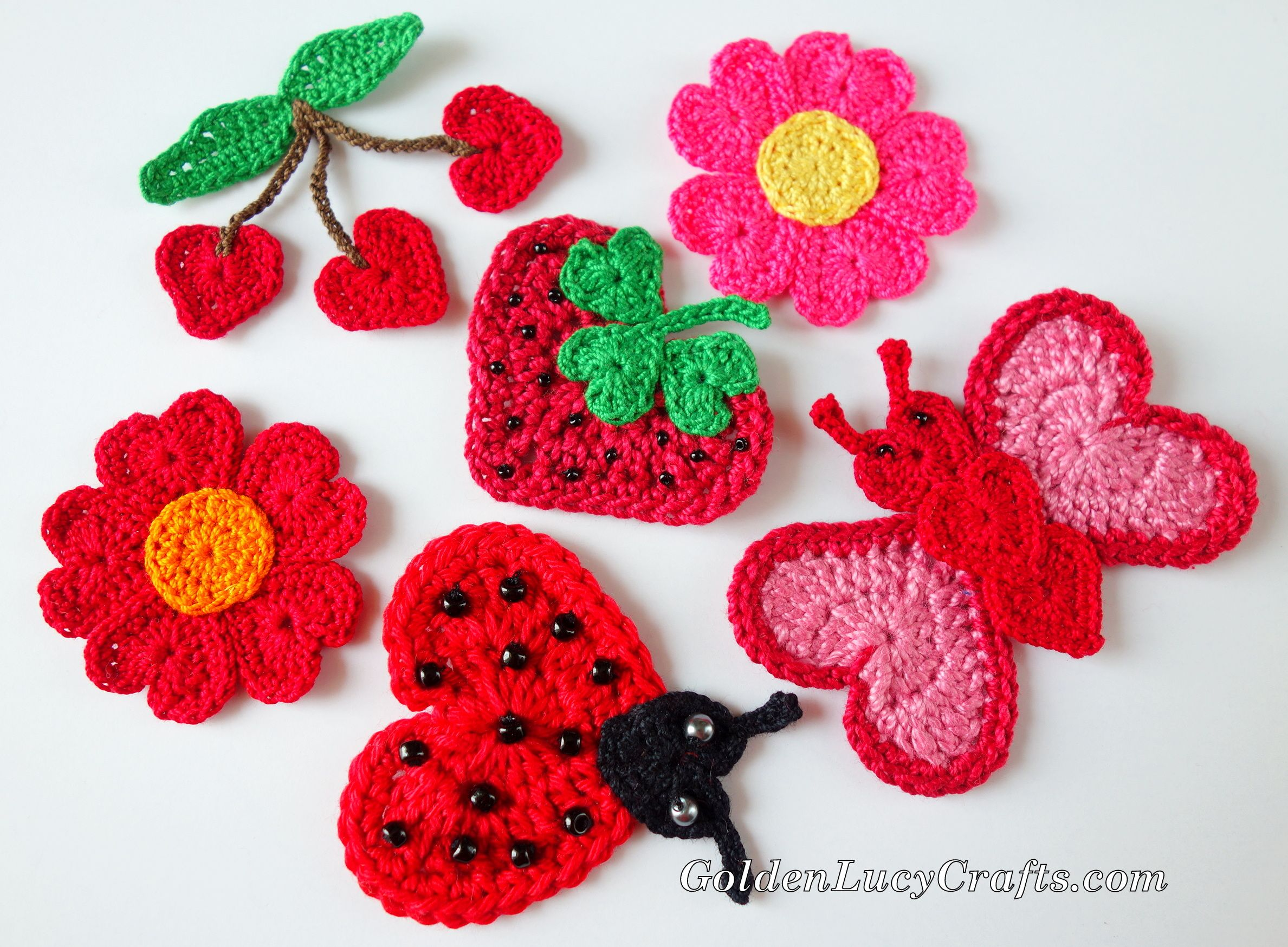 Free Crochet Patterns - Heart-Shaped, Valentine\'s Day, Appliques ...