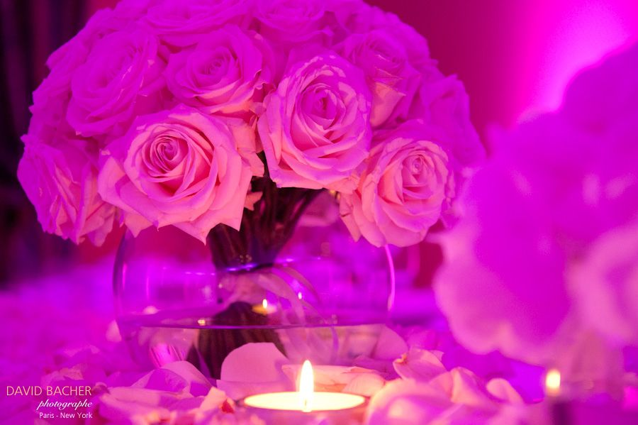 rose table setting