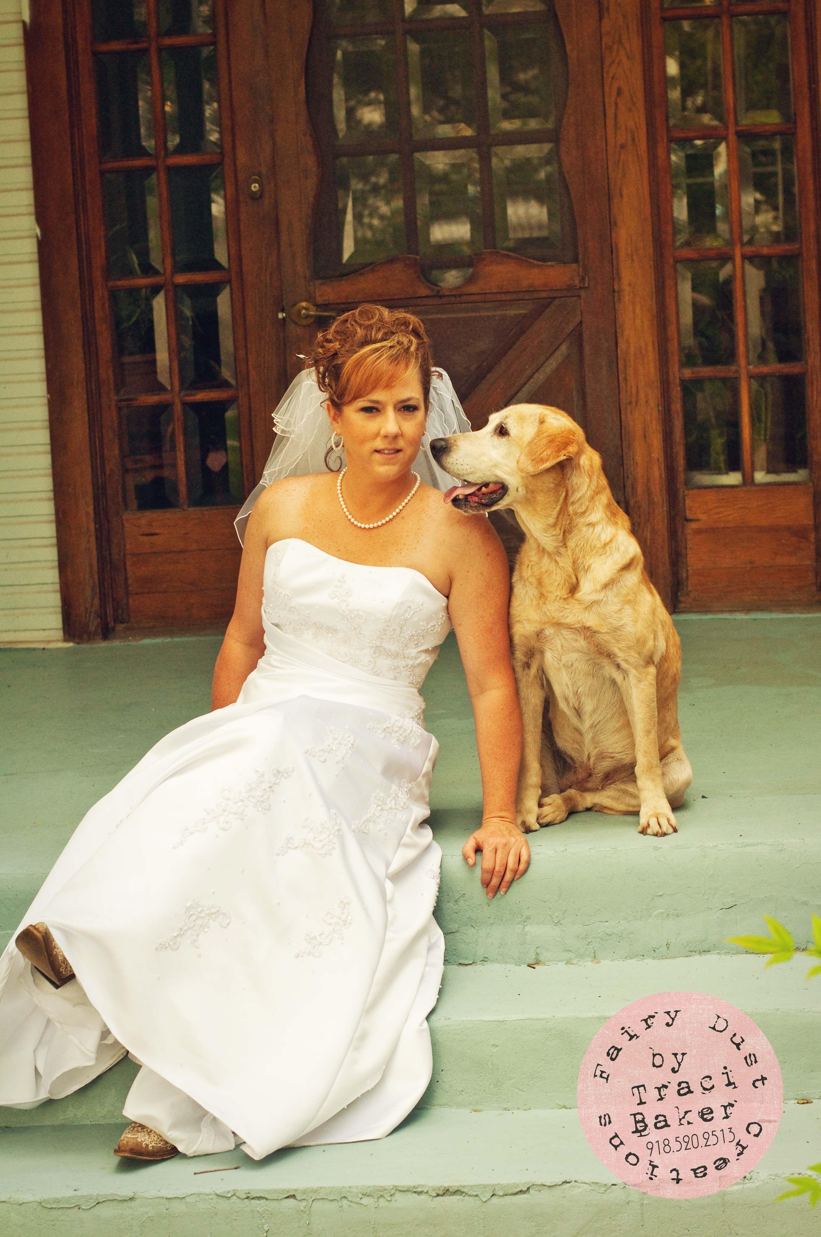 Ridiculous wedding dresses  Bride with her beloved dog wedding dogs pet  acibaker