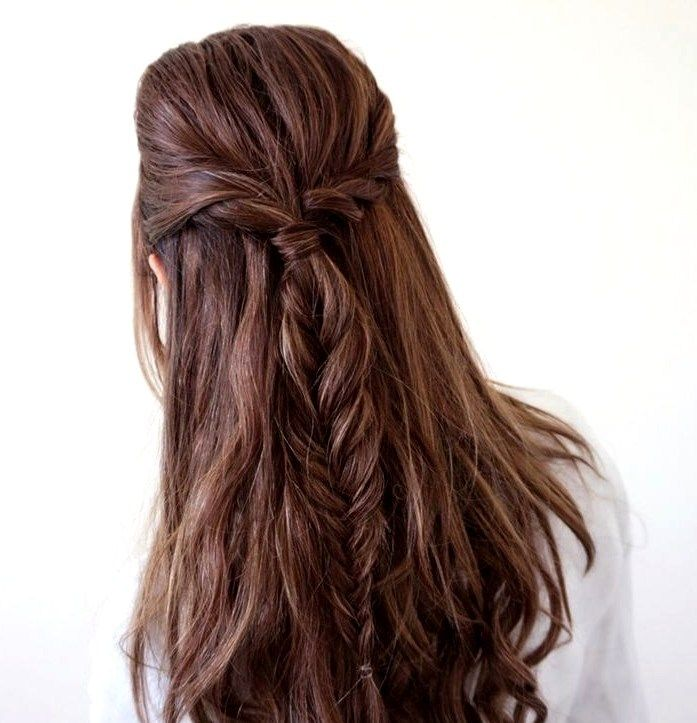 27 Cute and Easy Long Hairstyles for School - Pinmagz
