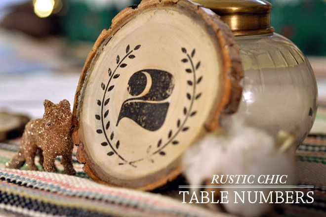 DIY Rustic-Chic Table Numbers