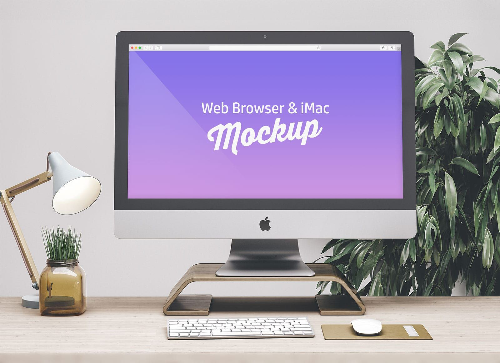 Free Web Browser Imac Mockup Psd Computer Mockup Imac Mockup Design