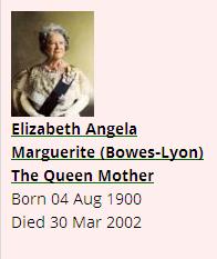 Family Tree For Elizabeth Angela Marguerite Bowes Lyon The Queen Mother Queen Mother Family Tree Bowes Lyon