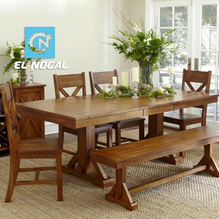Comedor con banca patas triangular muebles hogar pinterest muebles hogar comedores y hogar - Comedor con banca ...