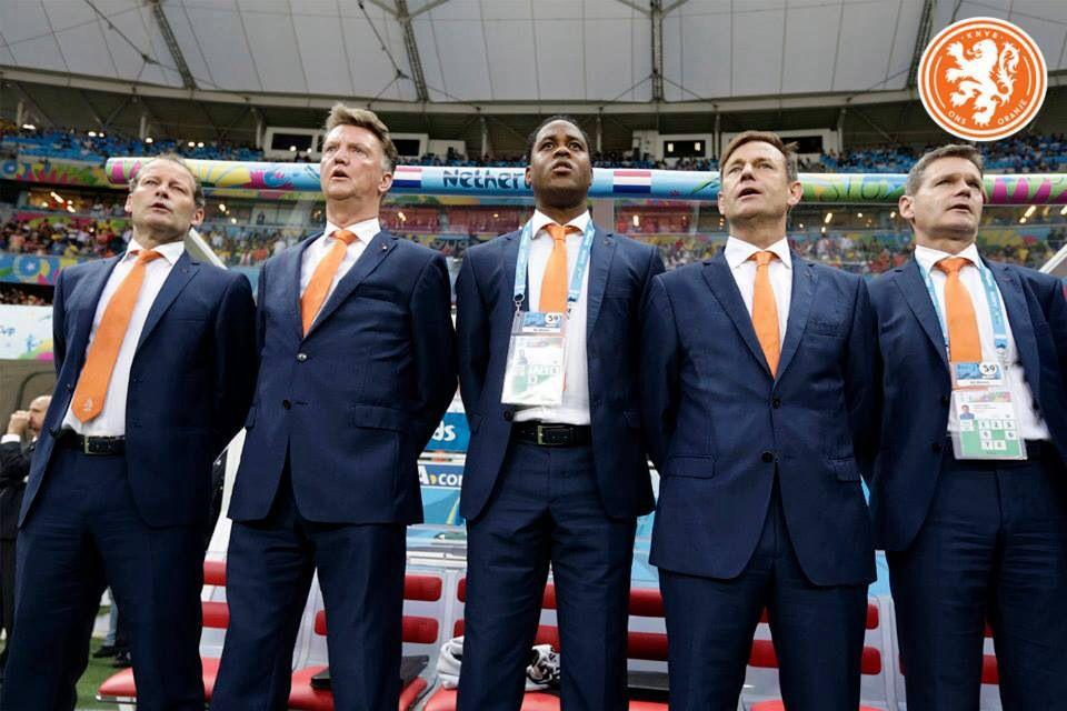 Louis Van Gaal And Crew. Nederlands Elftal In Brazilie