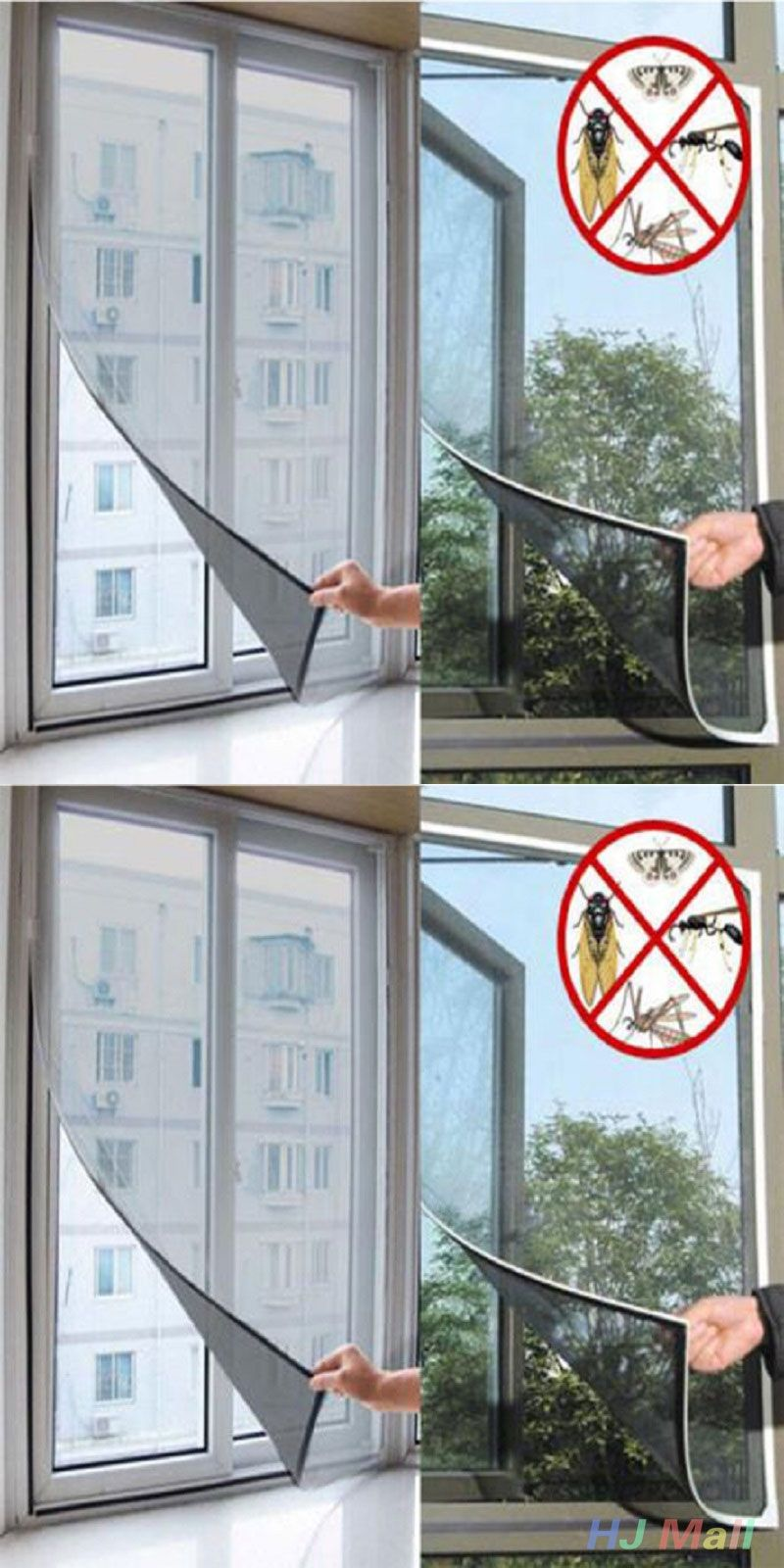 Insect Fly Mosquito Door Mesh Screen Curtain Protector Window Net With Tape  Mesh Screen, Insects