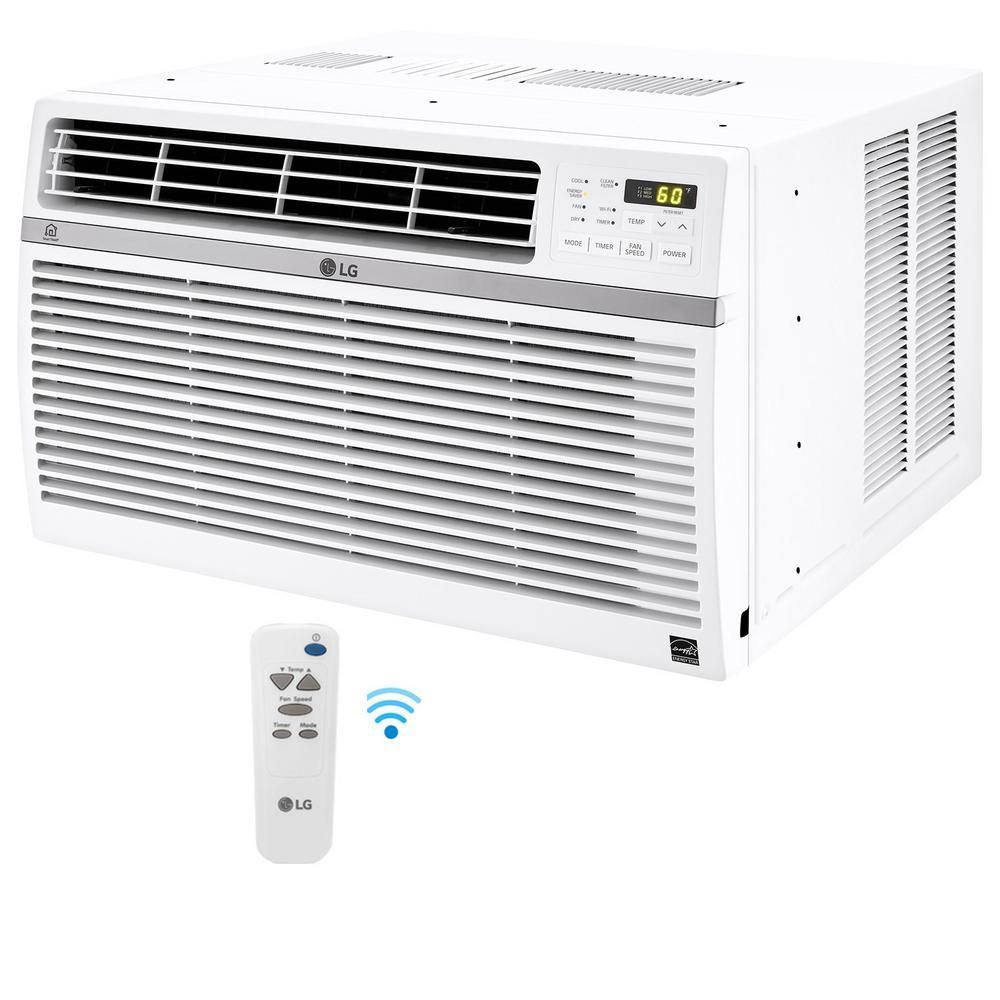 Lg Electronics 10 000 Btu Window Smart Wi Fi Air Conditioner With Remote Energy Star In White In 2020 Smart Air Conditioner Lg Electronics Air Conditioner