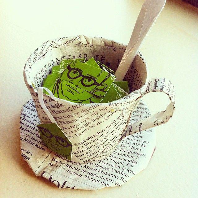 #mycup #cup #cupoftea #paper #papercub #papertea #handmade #craft #papercraft #tea #leoburnett #leoburnettistanbul #handmade #mymade