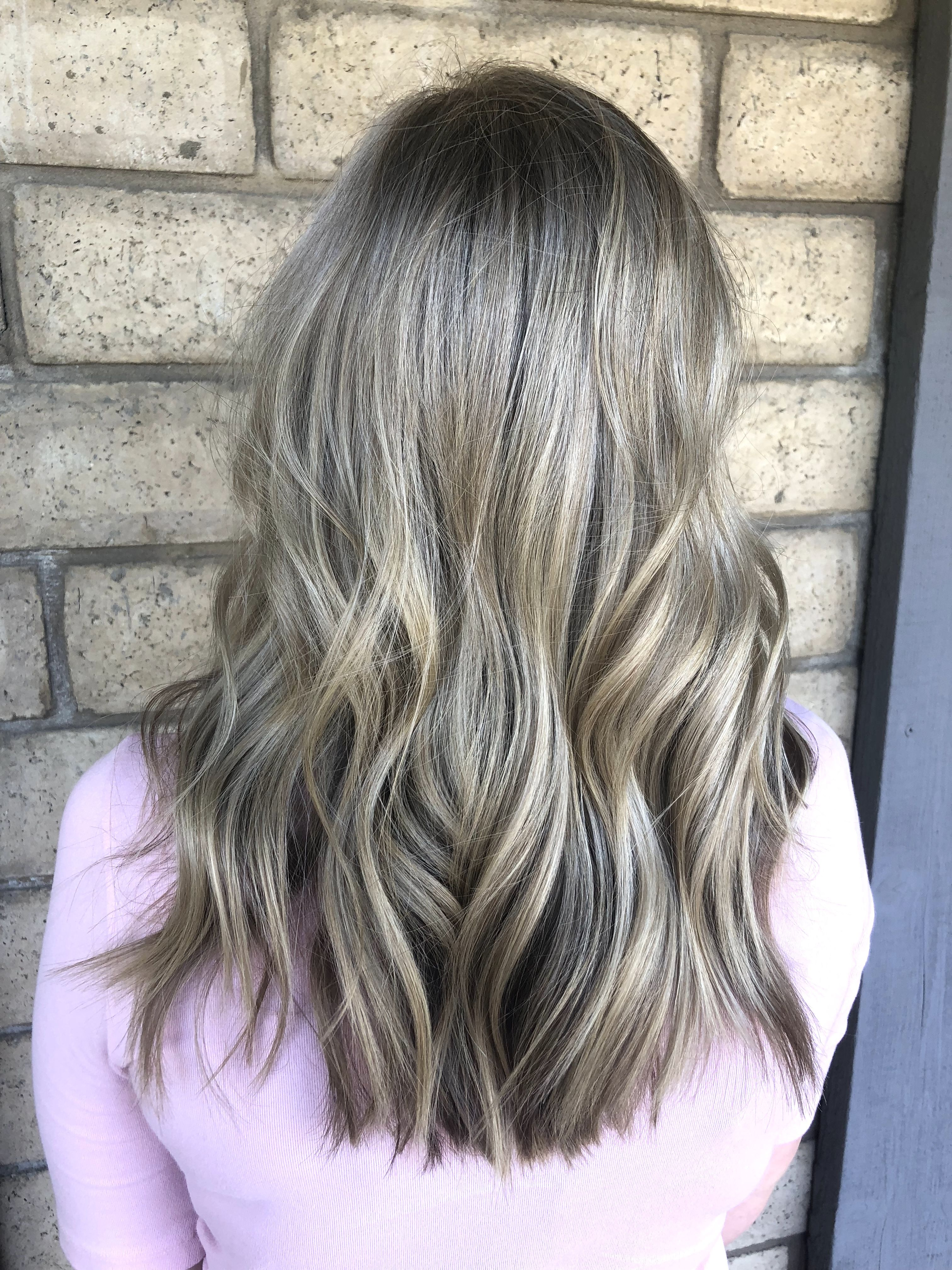 Ash Blonde Balayage Blonde Highlights Babylights Blonde Haircut