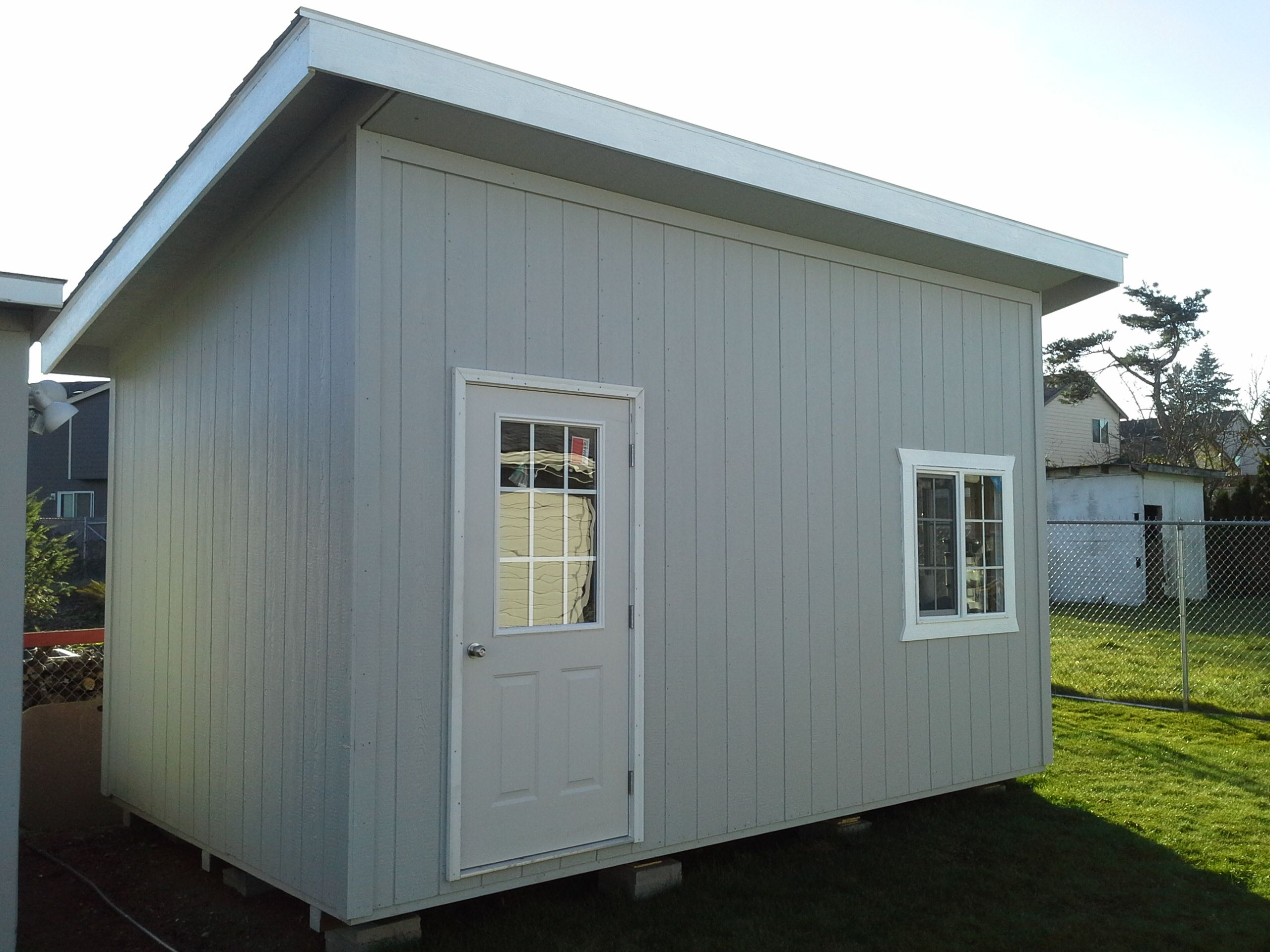 Slant Roof Style. Storage, Garden Shed, Tool Shed, Playhouse, Craft Room