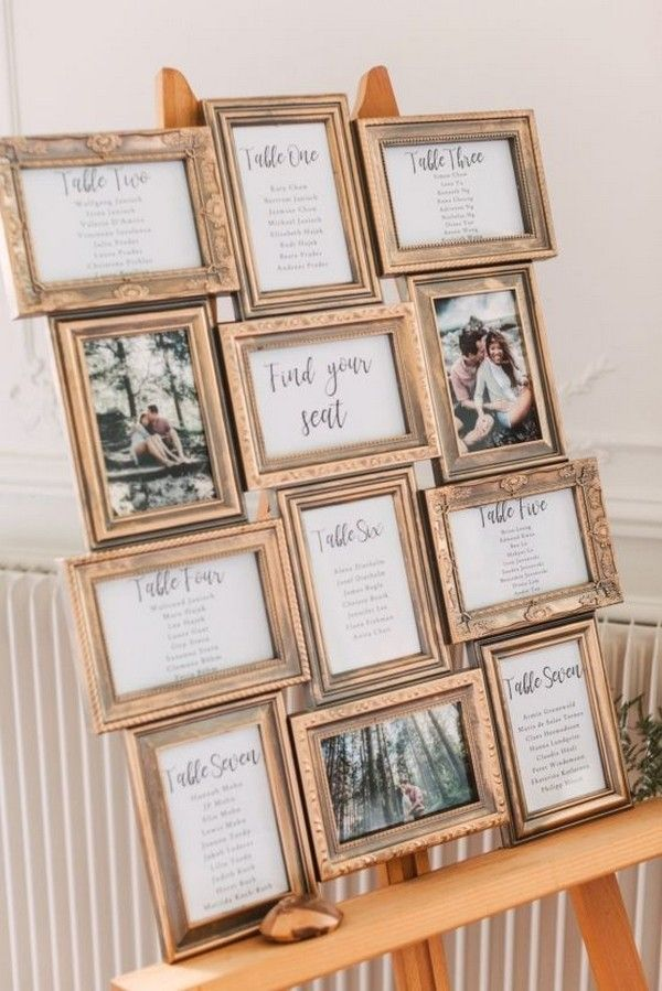 20 Vintage Wedding Seating Chart Ideas