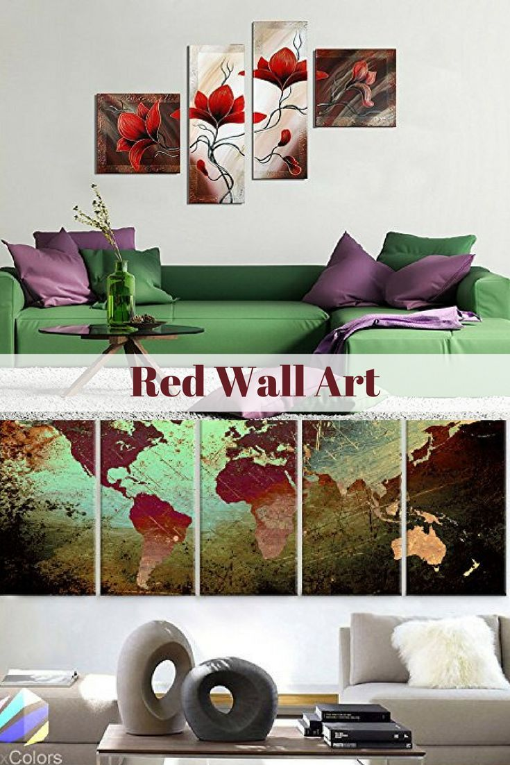 Red wall art is a beautiful way to add bold pops of color to your
