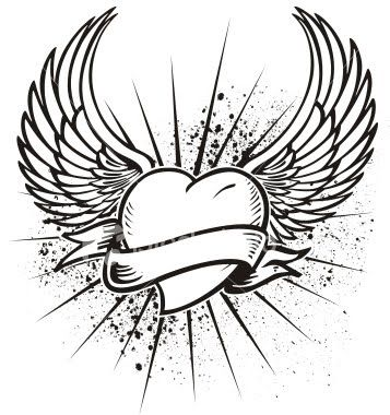 Heart With Wings Tattoo Designs