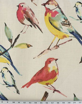 Birdwatcher Summer | Online Discount Drapery Fabrics and Upholstery Fabric Superstore!