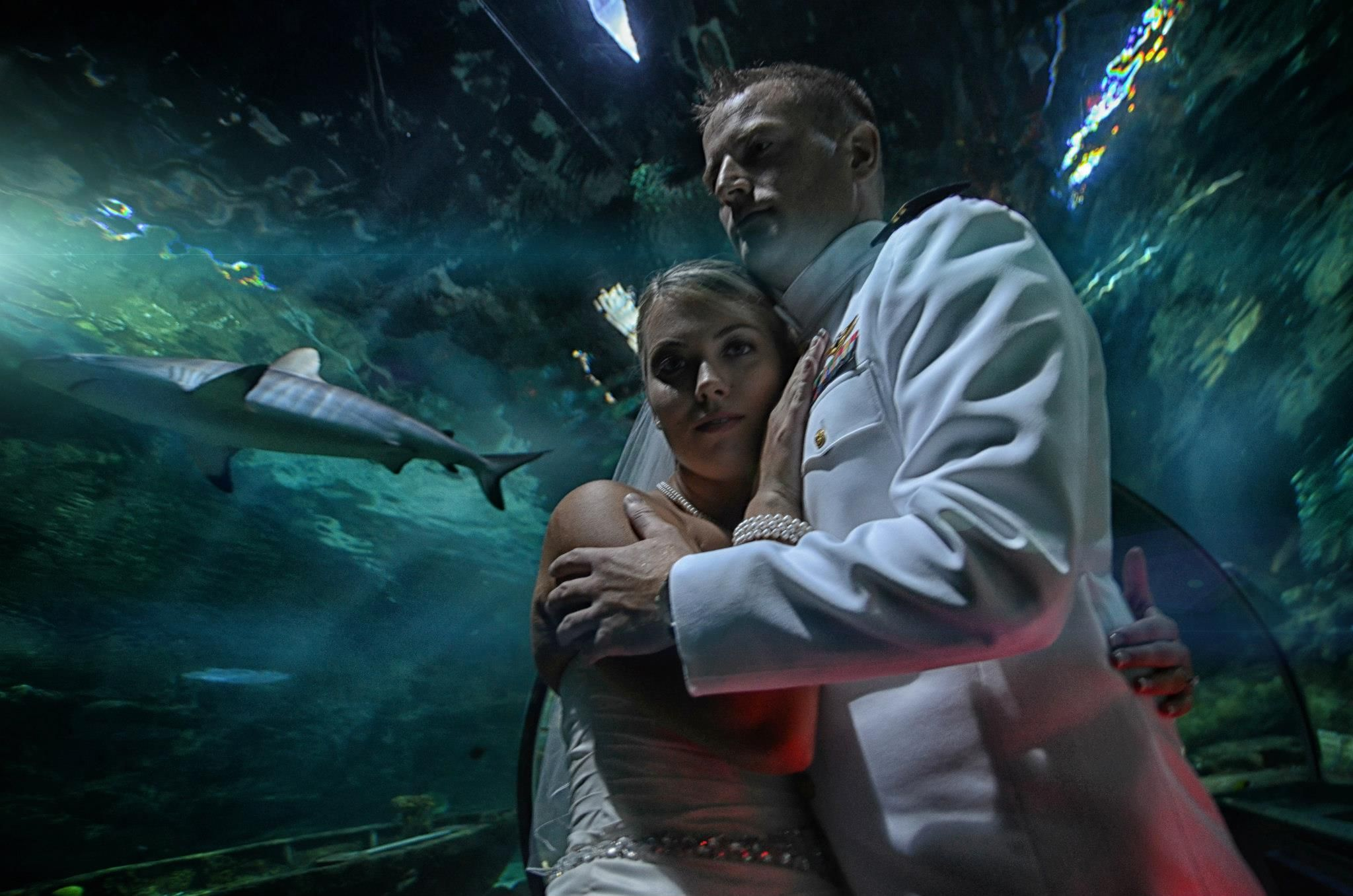 Guam Underwater World Wedding Photo