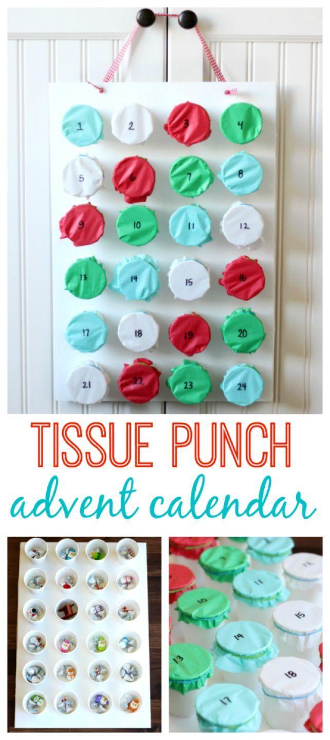 Wie erstelle ich einen Tissue Punch Adventskalender?